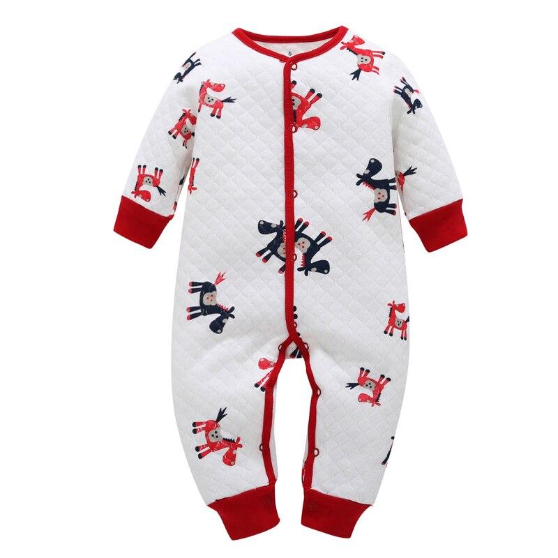 newborn baby boy Long sleeve one piece romper 100% cotton 2018 new Cartoon style winter costume for baby girl Sleepwear