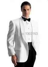 2016 Suits Custom Design White Groom Tuxedos Groomsmen Men's Wedding Suits Best man Suits (Jacket+Pants+Girdle+Tie)