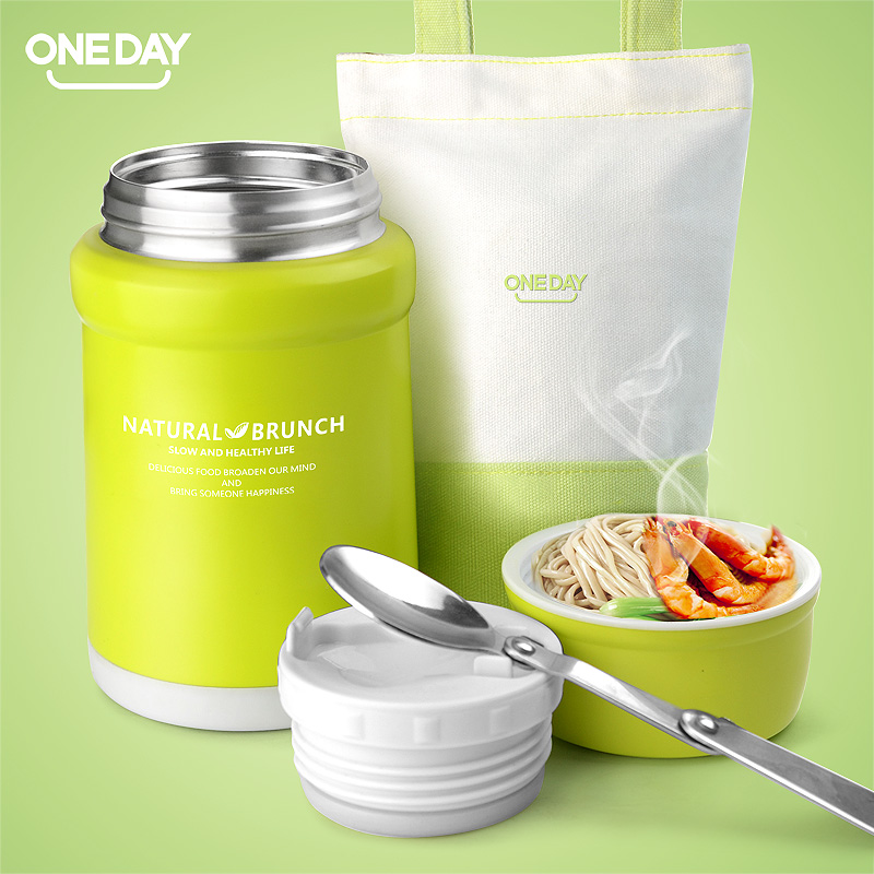 Thermos Lunch Box Stainless steel Insulated Food vacuum Flask Container Bag Insulation Thermo Bento Kids Child Storage - ONE IS ALL store
