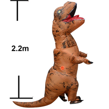 Adult Giant 2.2M Uppblåsbara Muscle Dinosaur Kostym Halloween Party Blowup T-REX Uppblåsbara Cosplay Kostym Outfits Fan Operated