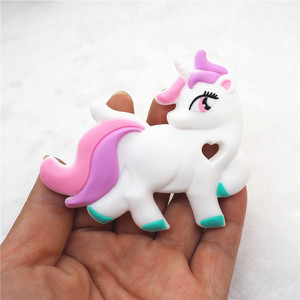 Image 5 - Chenkai 10PCS BPA Free DIY Baby Shower Pacifier Dummy Teether Sensory Toy Accessories Silicone Unicorn Teether