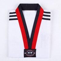 Taekwondo Dobok Long Sleeve Tae Kwon Do Uniform Karate Clothes Proffesional Taekwondo Trainers Cotton White Clothing