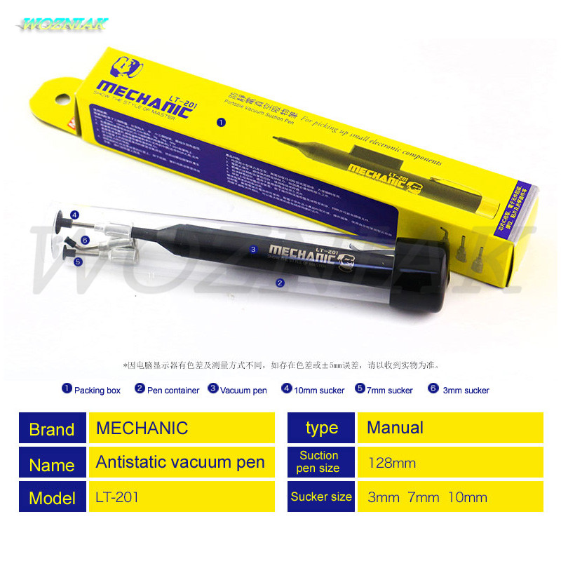 Wozniak High-quality Antistatic Strong vacuum pen for iphone chip ic SMD Vacuum extractor IC MINI sucker BGA Maintenance tool ic chip vacuum pen suction pads set for electronics diy