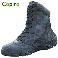 COPIRO Clorts Men Sport Shoes Hiking Boots Camouflage Outdoor Camping Sneakers Lace Up Waterproof Scarpe Trekking