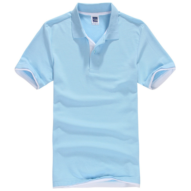 Новый мужской Polo Рубашка Мужчины Хлопок Полиэстер Polo Рубашки С Коротким Рукавом рубашки Плюс Размер XS-3XL мужская polo shirt