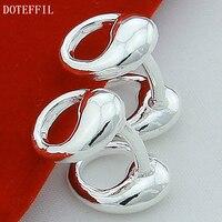 Luxury Jewelry 925 Sterling Silver Water Drop Cufflinks For Men Women High Quality Cufflinks Fine Jewelry