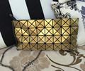 New Fashion 2016 Women's Cluth Sequins Mirror Laser Geometric Handbag Ladies Designer Bags Plaid BAOBAO Package Free Shipping