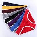 3 unids/lote hombres sexy calzoncillos de algodón suave superfino de fibra de alta elasticidad cómoda transpirable Mejorar Bolsa briefs