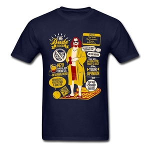 Image 2 - Поп Dude БОЛЬШОЙ ЛЕБОВСКИ футболка атмосферу футболка Для мужчин хлопок размера плюс короткий рукав пользовательские Забавные футболки