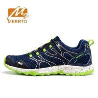 2018 נעלי MERRTO Mens ספורט נעלי ריצה אביב ובקיץ נעלי ספורט לגברים איש נעל ריצה שביל רשת לנשימה חיצונית