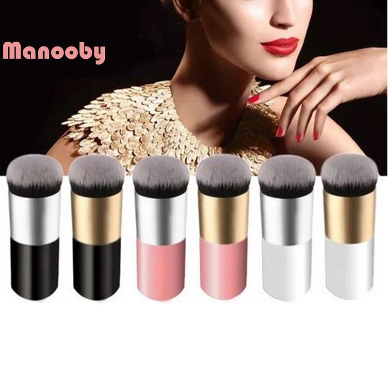 Beauty & Health Tireless Manooby Hottest Professional Powder Foundation Makeup Brushes Round Head Cosmetic Bb Cream Multifunctional Makeup-brushes Tools Latest Technology Makeup