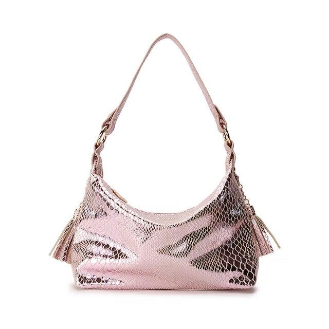 96208fe8be88 2019 New Fashion Serpentine Women Handbags Brand Design Pu Leather Ladies  Shoulder Bags Female Girl Luxury Crossbody Flap Bag