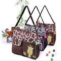2016 Summer Style Animal Baby Diaper Bag Mummy Nappy Zebra Or Giraffe Babyboom Multifunctional Fashion Infanticipate Shoulder