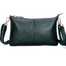 Genuine Leather Messenger Bag for Women Dress Clutch Bag Ladies Shoulder Bag Simple Handbag Ladies Crossbody Bag Bolsas Feminine