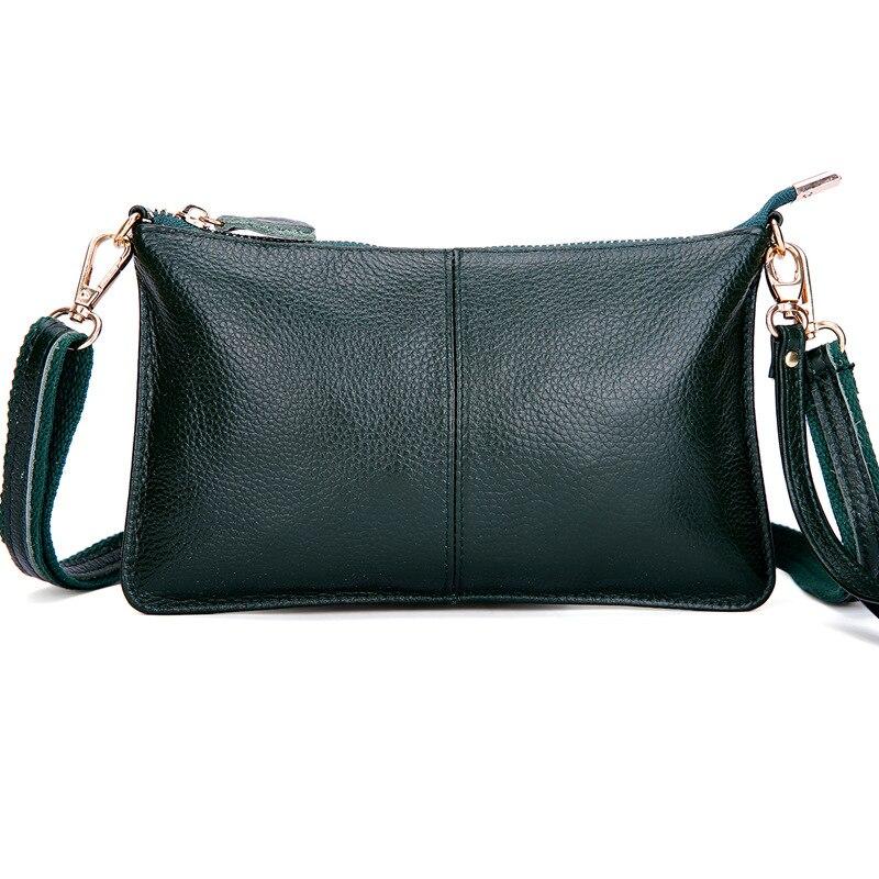 senhoras bolsa de ombro simples Material Principal : Couro Genuíno