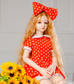 Ограниченным тиражом Ткань Одежда Подходит Для 55 см-60 см 1/3 BJD Игрушки Куклы Платье и Повязка Набор Стиральная Куклы ручной работы одежда Аксессуары