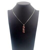 Bella Regali Festa della Mamma Granato Peridot Morganite Amethystt 925 Sterling Silver Ciondolo In Oro Rosa Per Le Donne 40mm