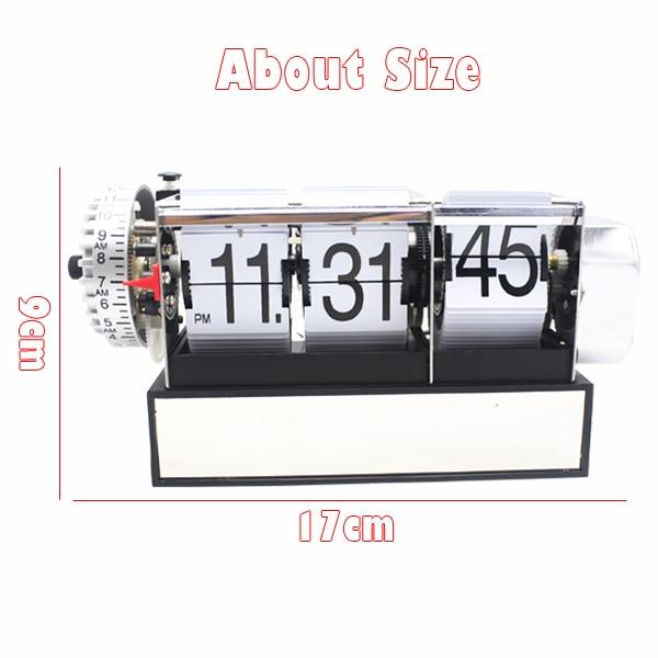 1 Piece Black White Automatic Flip Desk Alarm Clock For Art Home and Office Decorative Mini Table Clock 2