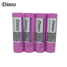 Dinto 10pcs/lot 3.7V 2600mAh for Samsung ICR18650 26F Li-ion Rechargeable Battery for Powerbank LED Flashlight Laser Pen(China)