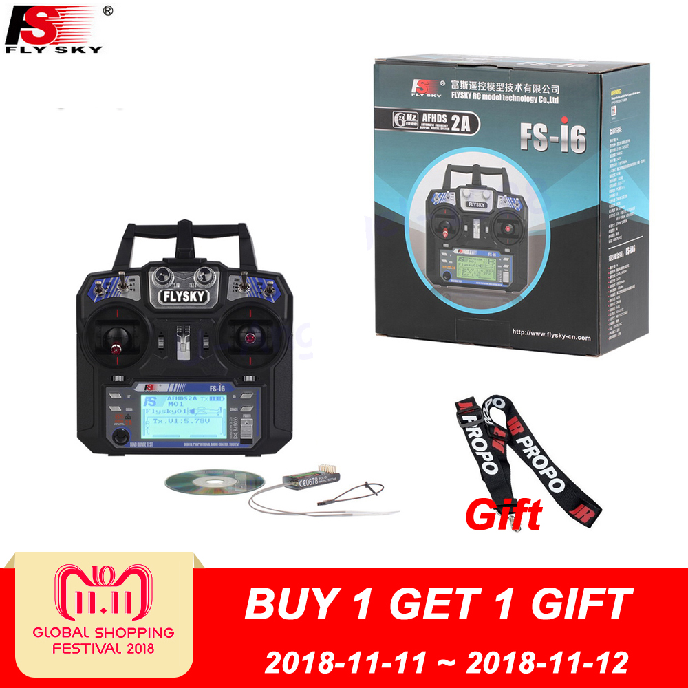Flysky FS-i6 FS I6 2.4G 6ch RC Transmitter Controller FS-iA6 or IA6B Receiver For RC Helicopter Plane Quadcopter Mode 1 Mode 2 flysky fs i6 6ch 2 4g afhds 2a lcd transmitter ia6 receiver mode 2 1 radio system for rc heli glider quadcopter f14914 5