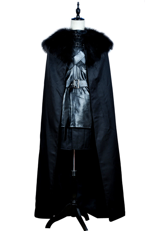2016 Game of Thrones Cosplay Costume Jon Snow Outfit A song of ice and fire Halloween Costumes For Men Women