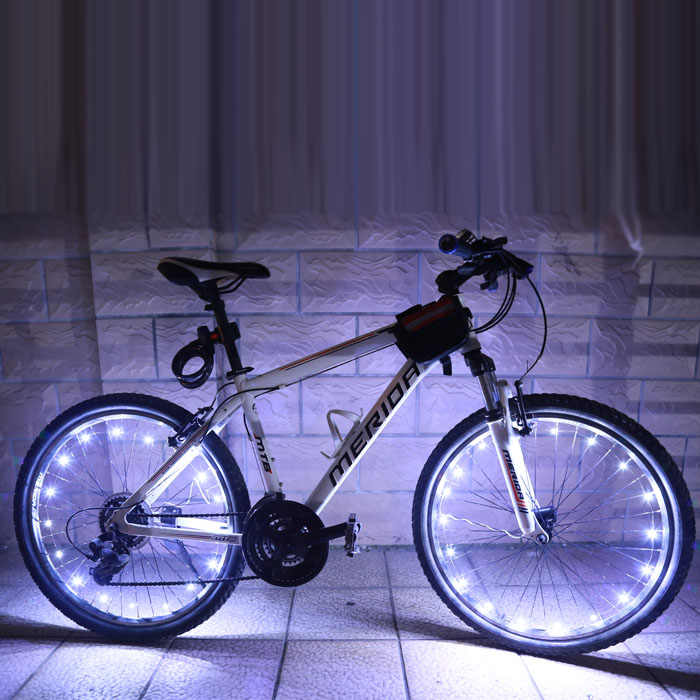 2 M/20LED moto cyclisme vélo roues de vélo a parlé Flash lumière lampe Impression équitation A01 vélo roue 5 couleurs nouveau A30517