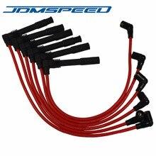 Красный JDMSPEED Свеча зажигания провода 671-6165 подходит для Volkswagen Passat Audi A4 A6 2.8L