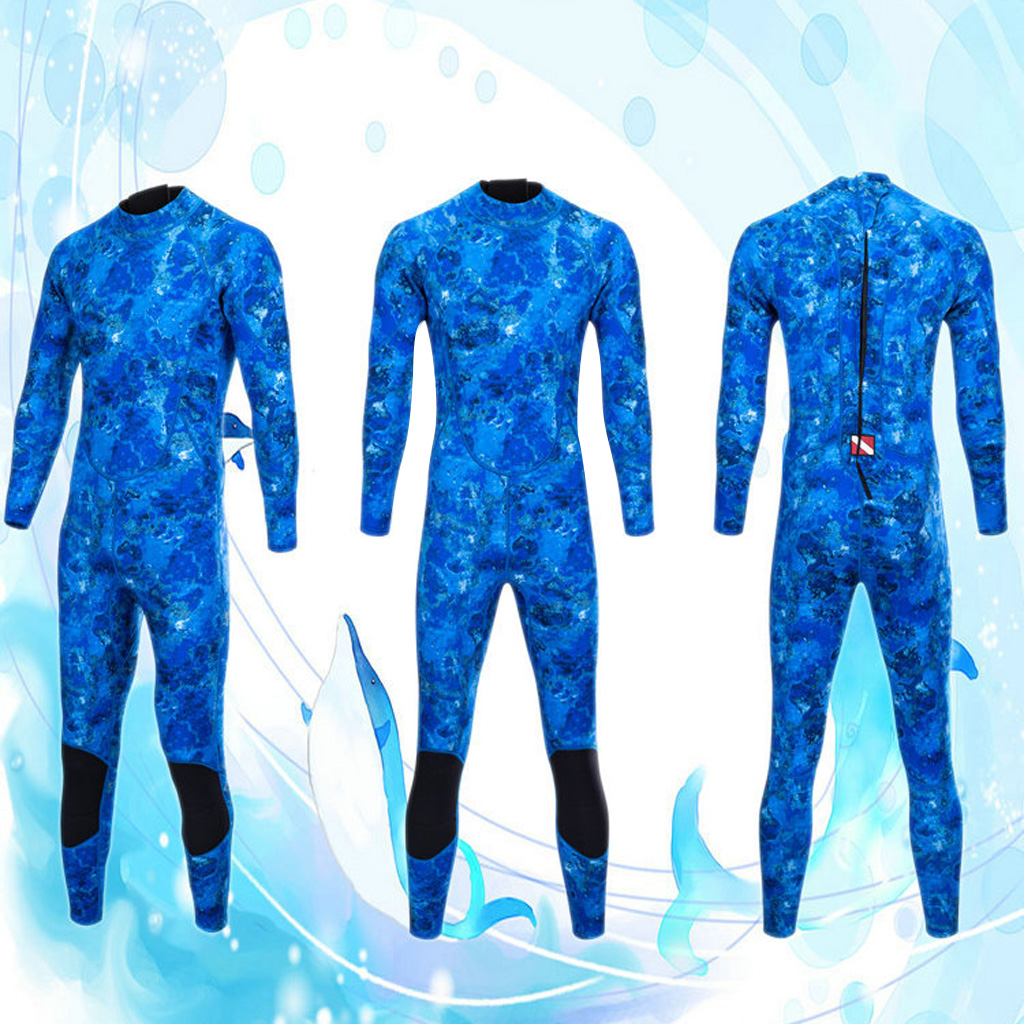 5fb8d5f673 Kayak canoe neoprene men wetsuit scuba diving surfing back zip warm full  suit for snorkeling swimming