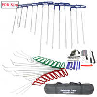PDR KING rod Hooks Spring Steel Push Rods Removal Dent Repair Paintless Dent Repair Tool car dent repair kit hail dent tools