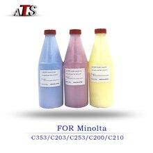 1 ADET 400G CMYK Renkli Toner tozu Konica Minolta C353 C203 C253 C200 C210 Fotokopi Parçaları Fotokopi makinesi yazıcı malzemeleri