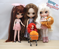 Factory Blyth Doll Nude Doll Special Offer!! 4 Blyth Doll Joint or Normal Body Different Styles of Hair 4 Colors For Eyes