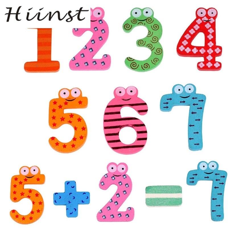 HIINST Прямая поставка Магнитные деревянные числа математика набор цифровой Детские развивающие игрушки mar29 p30
