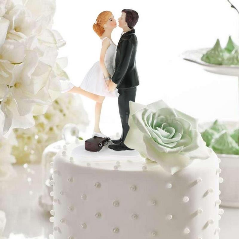 Personalisierte Braut Brautigam Dancing Couple Hochzeitstorte Topper