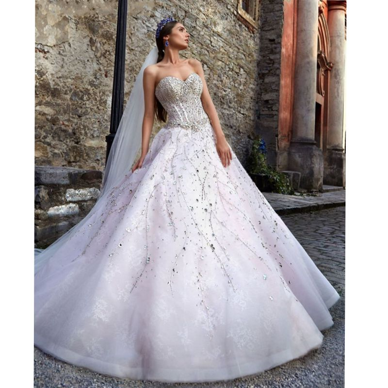 Online buy wholesale glitter wedding dresses from china for Bling wedding dresses 2017