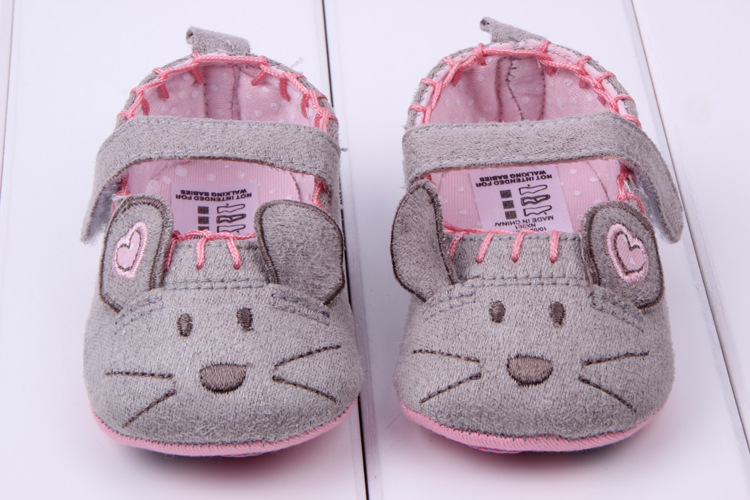 Very Cute Soft Little Mouse Princess Baby Shoes For Girl And Boy Baby Shoes 3 Size To Choose