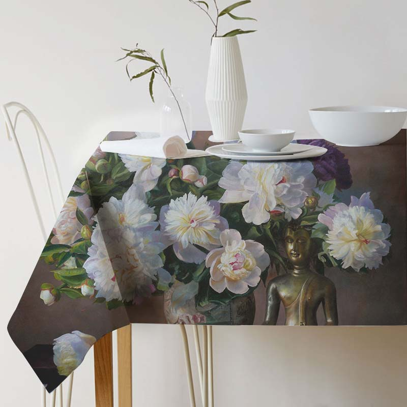 Zbigniew Kopania Painting Art tablecloth Ink Tablecloth for table Home Protection and decoration Elegant Table cover