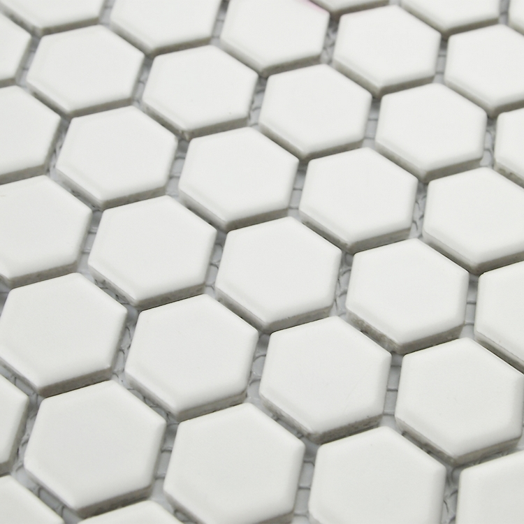 ⑧Envío libre hexágono blanco azulejos de mosaico de cerámica para ...