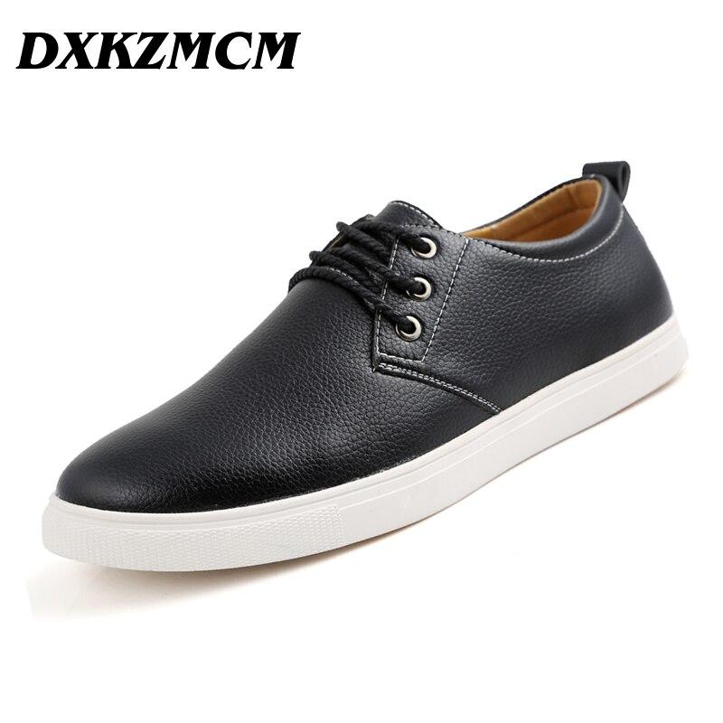 DXKZMCM Hombres Mocasines de Cuero Casual Zapatos Planos de Los Hombres de Oxfor