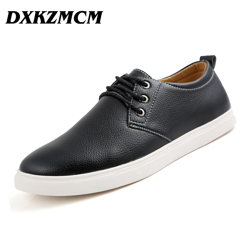 DXKZMCM Men Loafers Leather Casual Shoes Men Flats Oxford Shoes For Men Driving Shoes size 38-49 dxkzmcm men casual shoes lace up cow leather men flats shoes breathable dress oxford shoes for men chaussure homme
