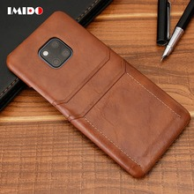 IMIDO Luxury Vintage Leather Phone Case For Huawei Mate 20 Lite Wallet Card PU Back Cover 10 9 Pro P20 Coque