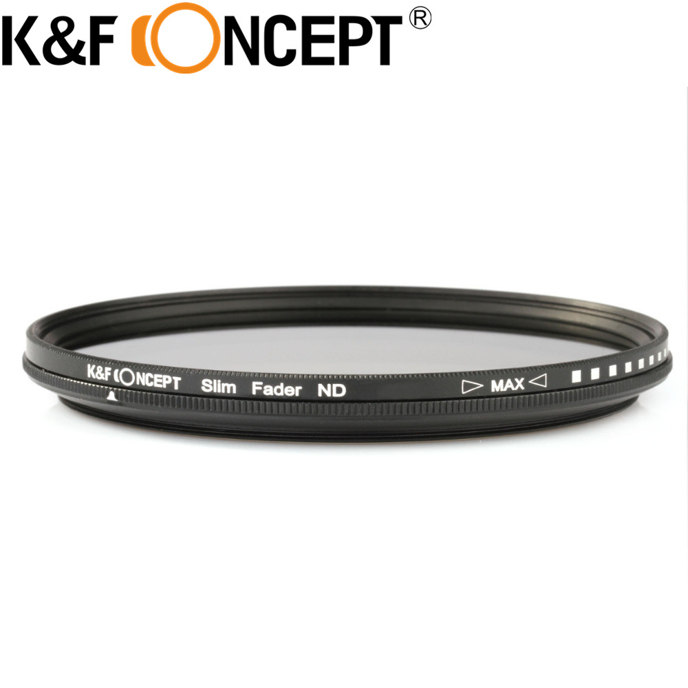 K & F CONCETTO 40.5 ~ 82 MM Slim Fader ND Variabile Filtro ND2 a ND400 Regolabile Neutral Density per Canon 7D 50D 60D