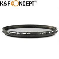 K & F KONZEPT 40,5 ~ 82 MM Schlank Fader Variable ND-Filter Einstellbar ND2 zu ND400 Neutral Density für Canon 7D 50D 60D