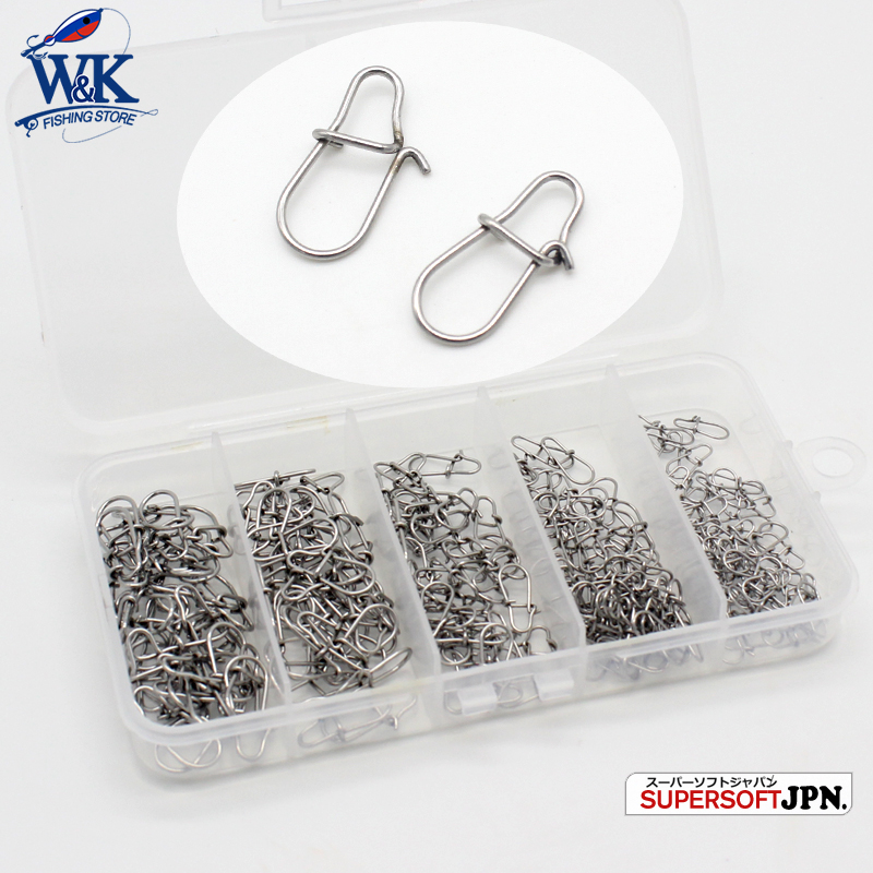 <font><b>105</b></font> pcs Stainless Steel Lock Snap Set with <font><b>5</b></font> Cell Storage Box Fishing Line Snap Pro Fast Lock Buckle Fishing Accessories image