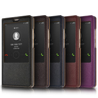 New For Huawei Mate 8 Phone cover Case Leather Cover with Sleep Wake Up Function Genuine Leather for Huawei Mate 8 Phone cases