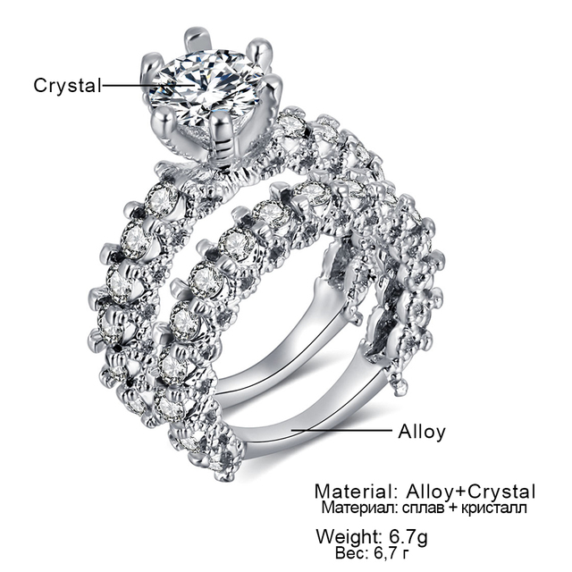 Crystal Jewelry Ring Set.