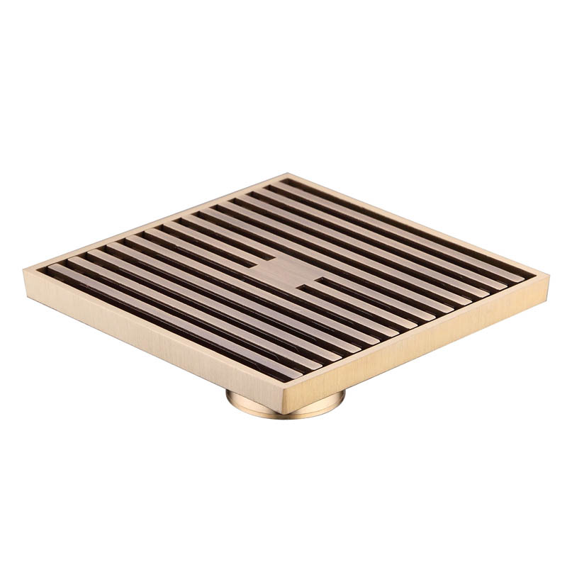 12 x 12cm Square Bathroom Shower Drain Floor Drainer Trap Waste Grate Strainer Wire floor drains Antique Brass 3782169  anti odor bathtub shower drainer floor strainer 10x10cm 304 stainless steel square invisible bathroom floor drain waste grate