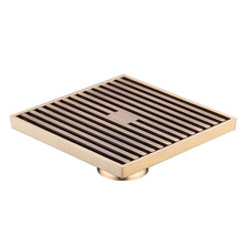 12cm x12cm Square Bathroom Shower Drain Floor Trap Waste Grate Wire Style Antique Brass newly 70 10cm vintage artistic bathroom wetroom square shower floor drain stainless steel trap waste grate