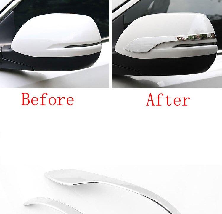 2pcs ABS Chrome Rearview Side Mirror Cover Trim For Honda CRV CR-V 2013-2018 17