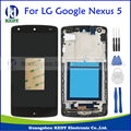 Original For LG Google Nexus 5 D820 D821 Black LCD Display and Touch Screen Digitizer Assembly With Bezel Frame+Tools