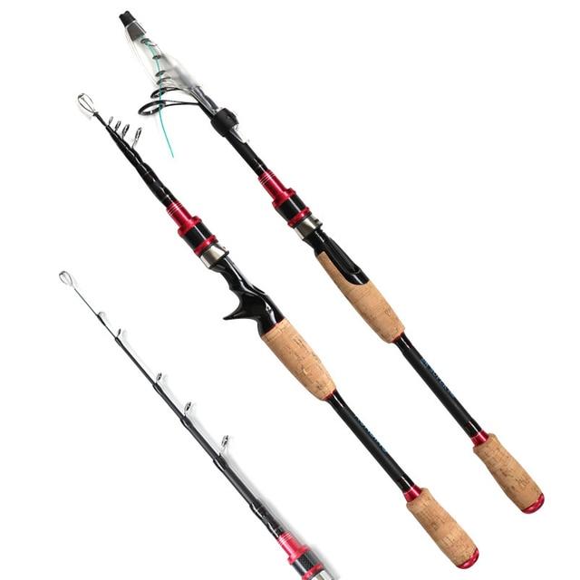 1.98m 2.7m carbon telescopic spinning fishing rod bait casting lure rod squid boat rock stick hard short pesca pole